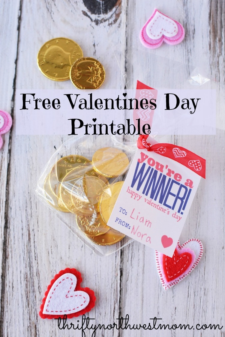 Free valentines day printables - You're A Winner