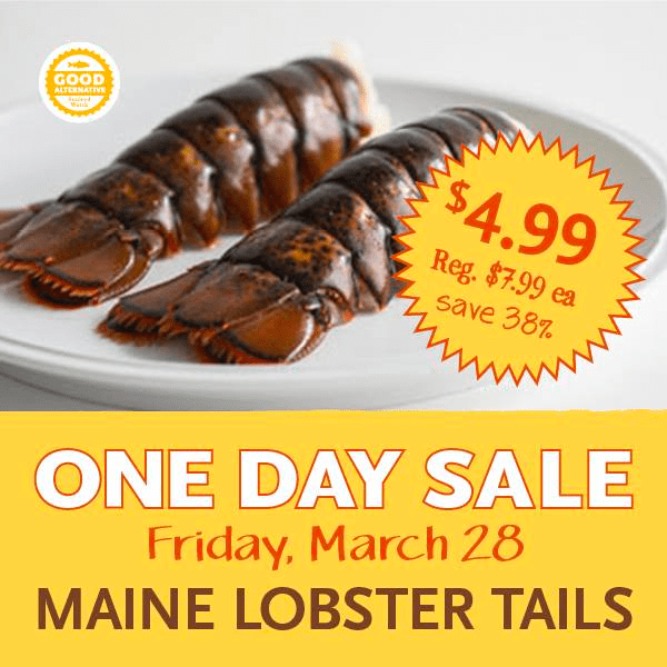 Whole Foods Lobster Tail Sale - $4.99 on Friday March 28th - Thrifty NW Mom