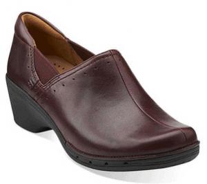 Burgundy Leather Clog