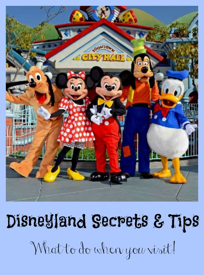 Learn these Disneyland Secrets and Tips for making your visit more enjoyable.