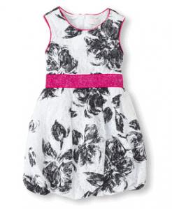 Floral Lace Bubble Dress