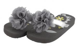 Gray Flip Flops