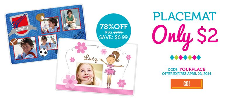 Personalized Placemats – $4.99 Shipped from InkGarden