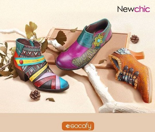 NewChic – Up To 60% Off Socofy Bohemian Boots and Shoes!