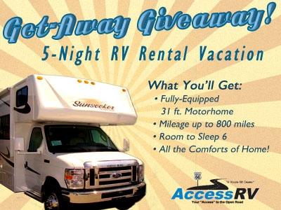 5 night RV Rental Giveaway