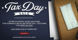 6pm tax day sale