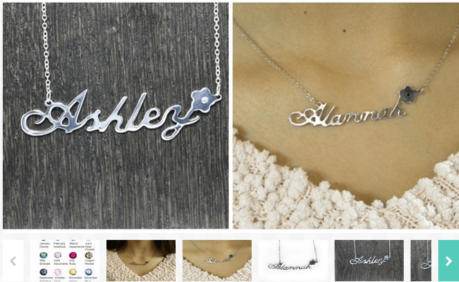 Jewelry Deals On Jane Personalized Name Necklace With