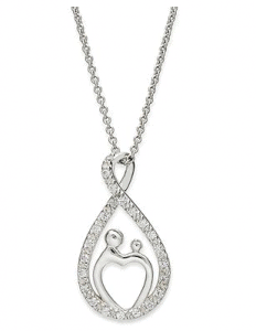 Sterling Silver Necklace with TearDrop Pendant