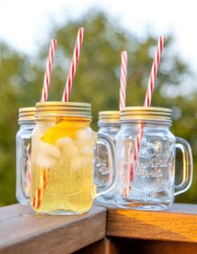 Mason Jar Mugs with Handle & Lid