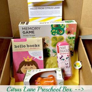 citrus lane preschool sample box