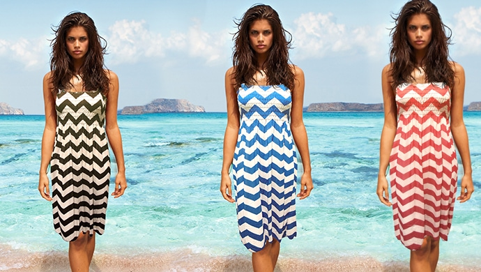 Chevron Print Sundresses