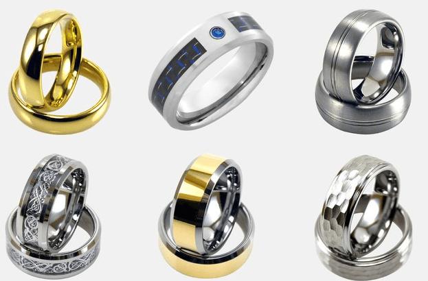 Light Tungsten men's rings