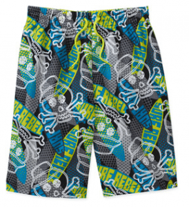 OP Boys Skulls Swim Trunks