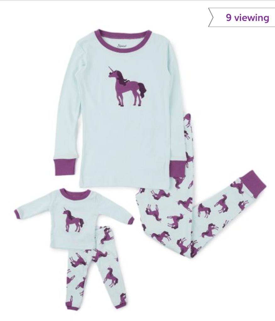 18″ Doll Clothes on Sale at Zulily  – Matching Girl & Doll Pajamas Starting at $14.99!