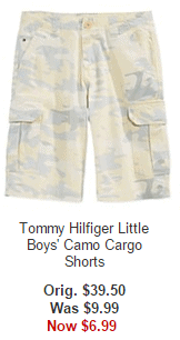 Tommy Hilfiger Little Boys' Camo Cargo Shorts