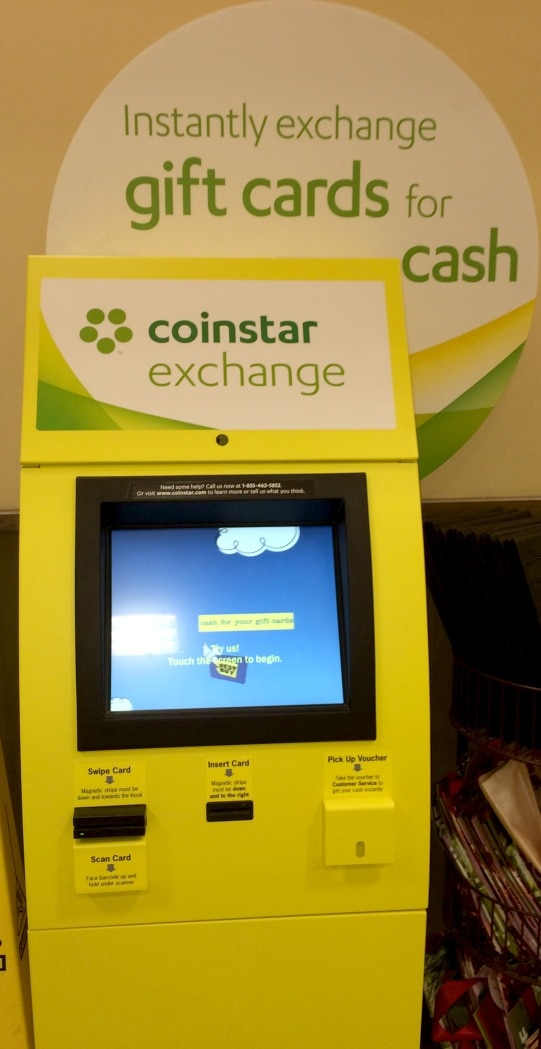 Earn Cash For Your Gift Cards From Coinstar Exchange Thrifty Nw Mom