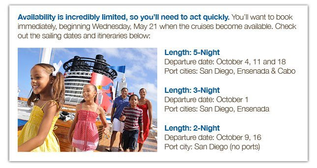 Disney Cruise Lines Will Now Sail From the West Coast!!!