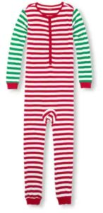 4060c5226c Unisex Adult Long Sleeve Holiday Striped One-Piece Sleeper Sale price is   18.48 (reg.  36.95)