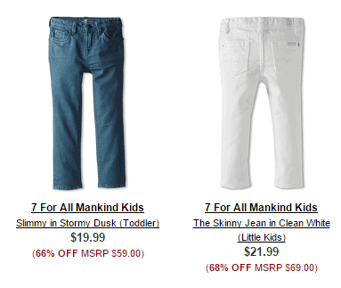 7 for All Mankind Sale   Extra 15% Off (Kids Jeans $16.99, Womens ...