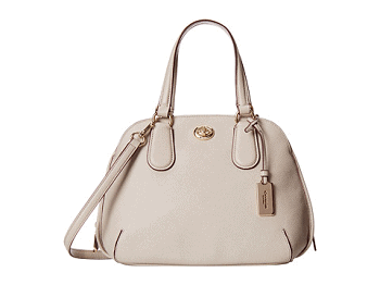 COACH Crossgrain Leather Mini Prince Street Satchel