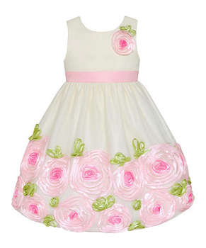 Candlelight & Ice Pink Rosette Dress - Toddler