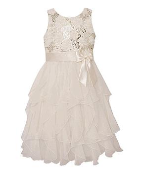 Candlelight Sequin Ruffle Dress - Infant, Toddler & Girls