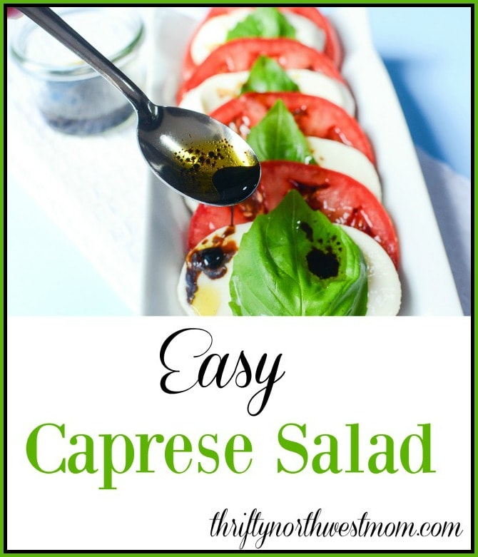 If you're looking for a healthy & flavorful summer salad, try this Easy Caprese Salad. With just 3 ingredients & dressing, you can put this together fast!