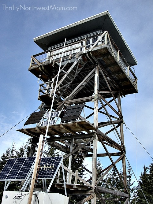 Clear Lake Fire Lookout Cabin at Mt Hood