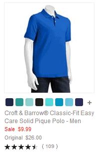Croft & Barrow Classic-Fit Easy Care Solid Pique Polo - Men