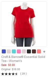 Croft & Barrow Essential Solid Tee - Women's