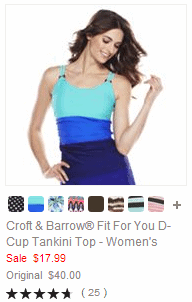 Croft & Barrow Fit For You D-Cup Tankini Top - Women's