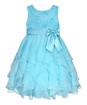 Easter Blue Rosette Ruffle Dress - Infant, Toddler & Girls