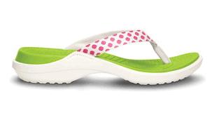 Fuchsia & Oyster Polka Dot Capri Flip-Flop - Women