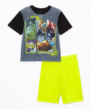 Gray & Yellow Avengers Pajama Set - Boys