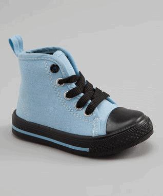 Light Blue & Black Hi-Top Sneaker