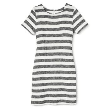 Merona Women's Knit T-Shirt Dress - Stripes
