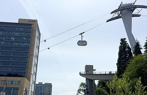 Portland Aerial Tram from Ground