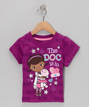 Purple Doc McStuffins 'The Doc is In' Tee - Toddler & Girls