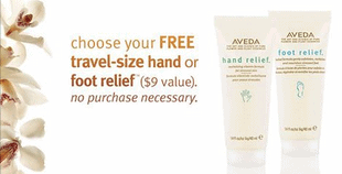 Aveda Free Sample – Travel-Size of Hand or Foot Relief Lotion