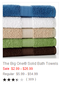 The Big One Solid Bath Towels