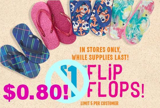 childrens place flip flops