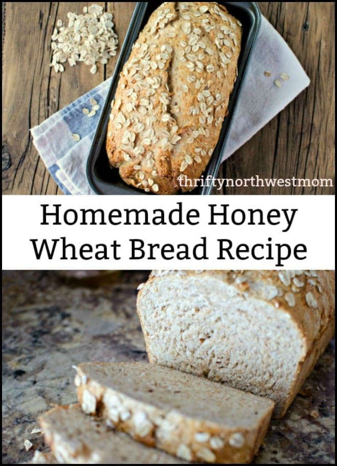 Homemade Honey Wheat Bread Recipe!