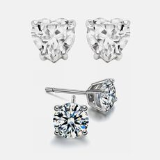 2ct Sterling Silver Simulated Diamond Studs
