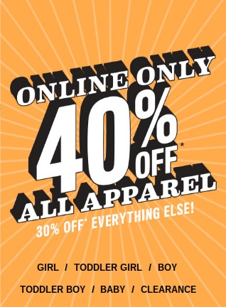 Today Only: 40% Off at The Children's Place