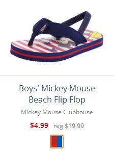 Boys' Mickey Mouse Beach Flip Flop