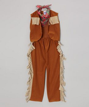 Brown Cowboy Dress-Up Set - Boys