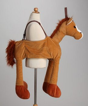 Brown Plush Ride-On Horse Dress-Up Outfit