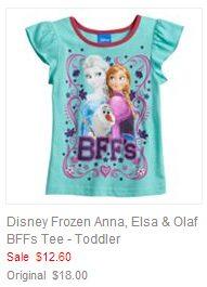 Disney Frozen Anna, Elsa & Olaf BFFs Tee - Toddler