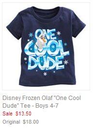 Disney Frozen Olaf  One Cool Dude Tee - Boys 4-7