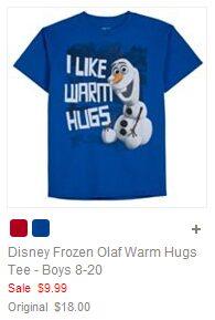 Disney Frozen Olaf Warm Hugs Tee - Boys 8-20